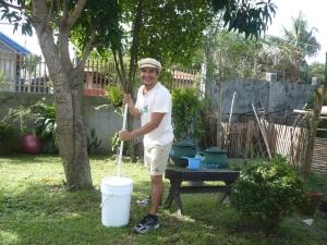 uma demonstração de nossa máquina de lavar economicamente ecológica